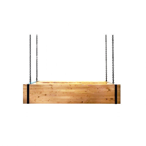 Natural Pine Bar (Hanging) [QTY 1, 10' x 3' , Hangs from Modern Tent]