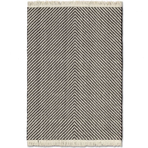 Woven Chevron Rug with Fringe [QTY 2, 5' x 7']
