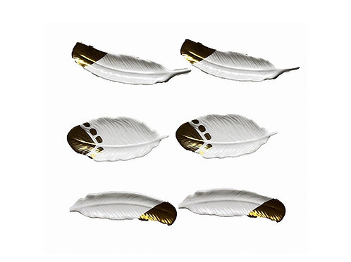 """Tribal Feathers [QTY8, SET OF 6, 5""""]"""