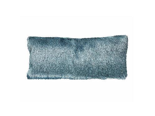 "Turquoise Shag Lumbar Pillow [QTY 2, 24"" x 13""]"
