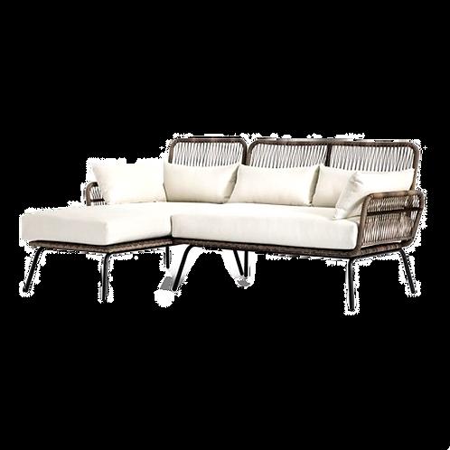 """Tribal Wicker Sofa [QTY 4, 33""""H x 74""""W x 55""""D]"""