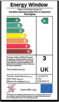 Window energy rating (WER) label