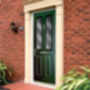 Double glazed composite front door
