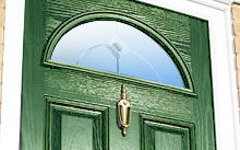 Double glazed composite door
