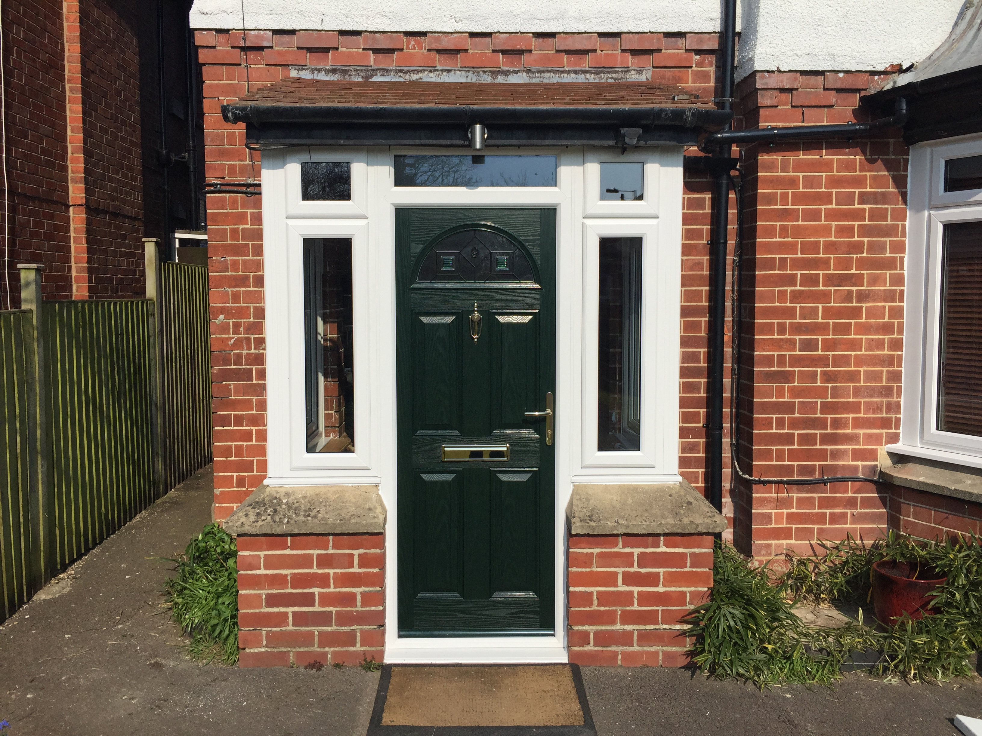 New composite front door and windows