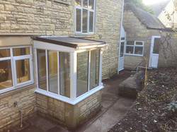 Rear porch, EPDM roof
