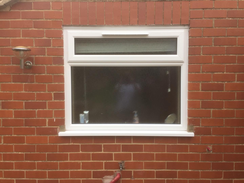 Newly installed bathroom window