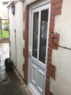 New PVCU double glazed back door