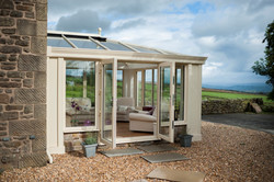 Brown coloured with loggia