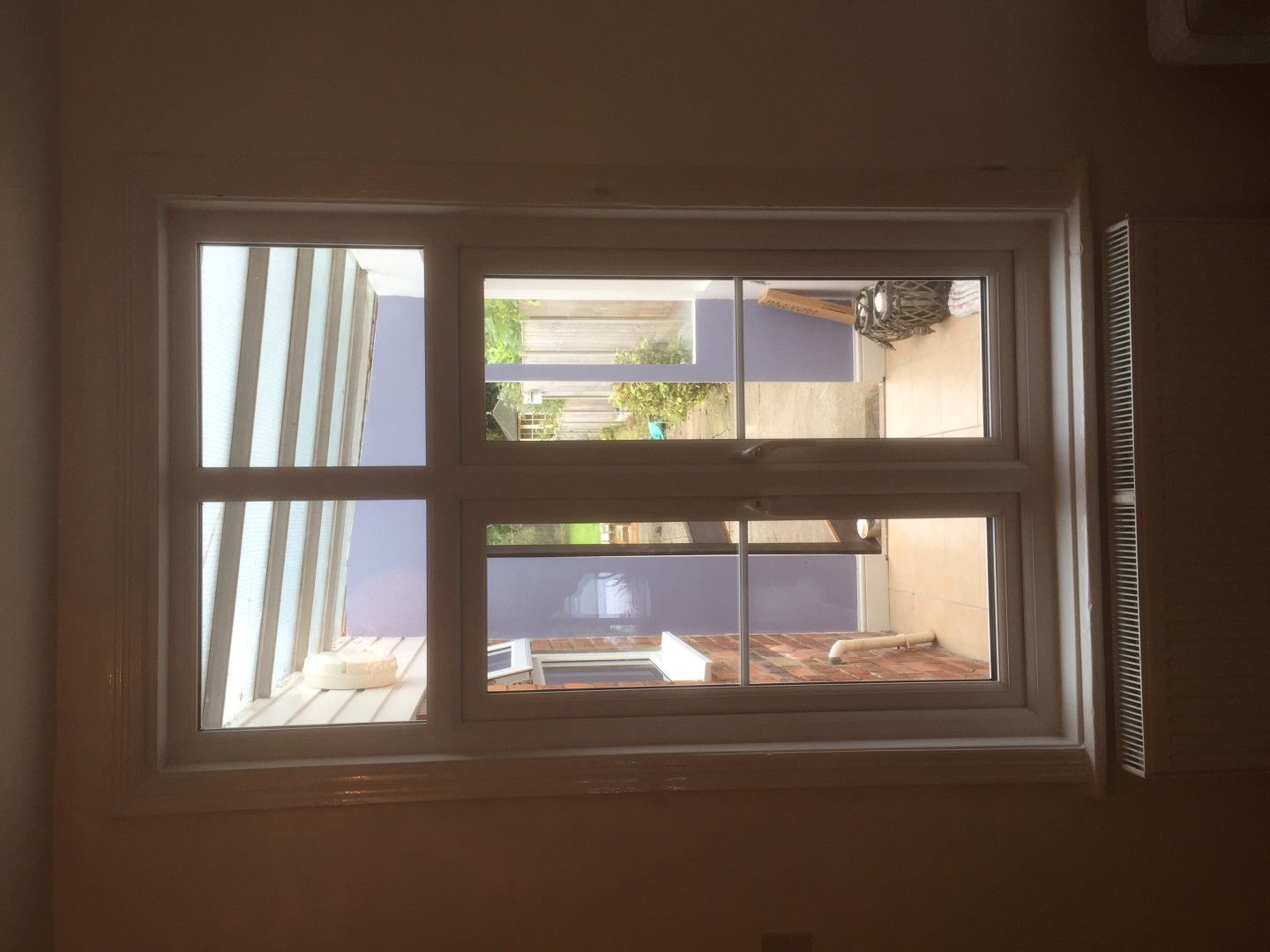 New lounge window with georgian bars