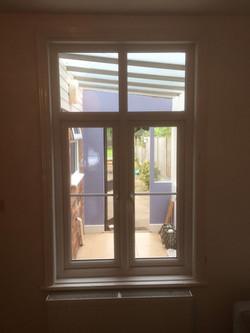 New lounge window with georgian bars