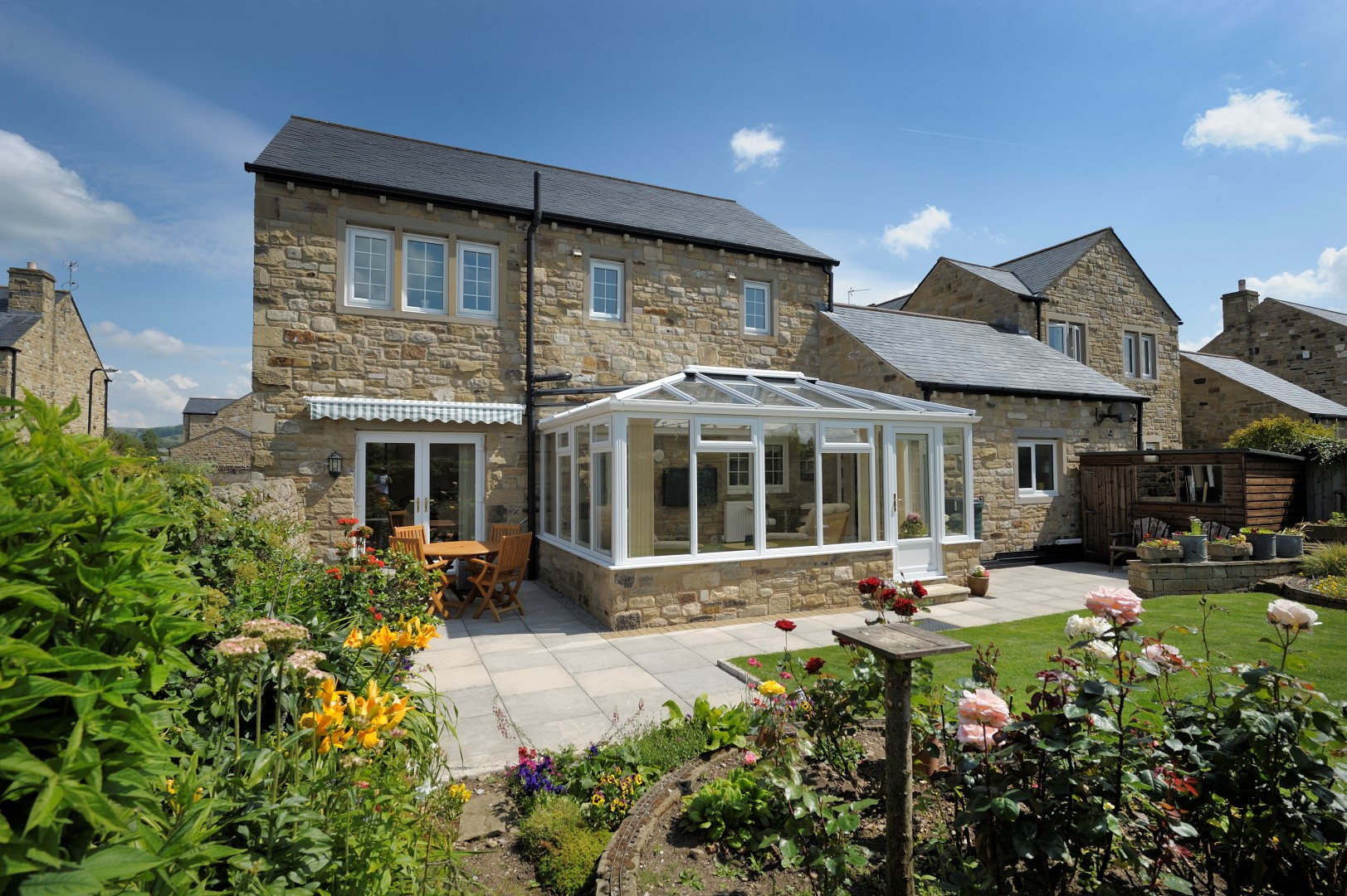 Edwardian glass roof conservat