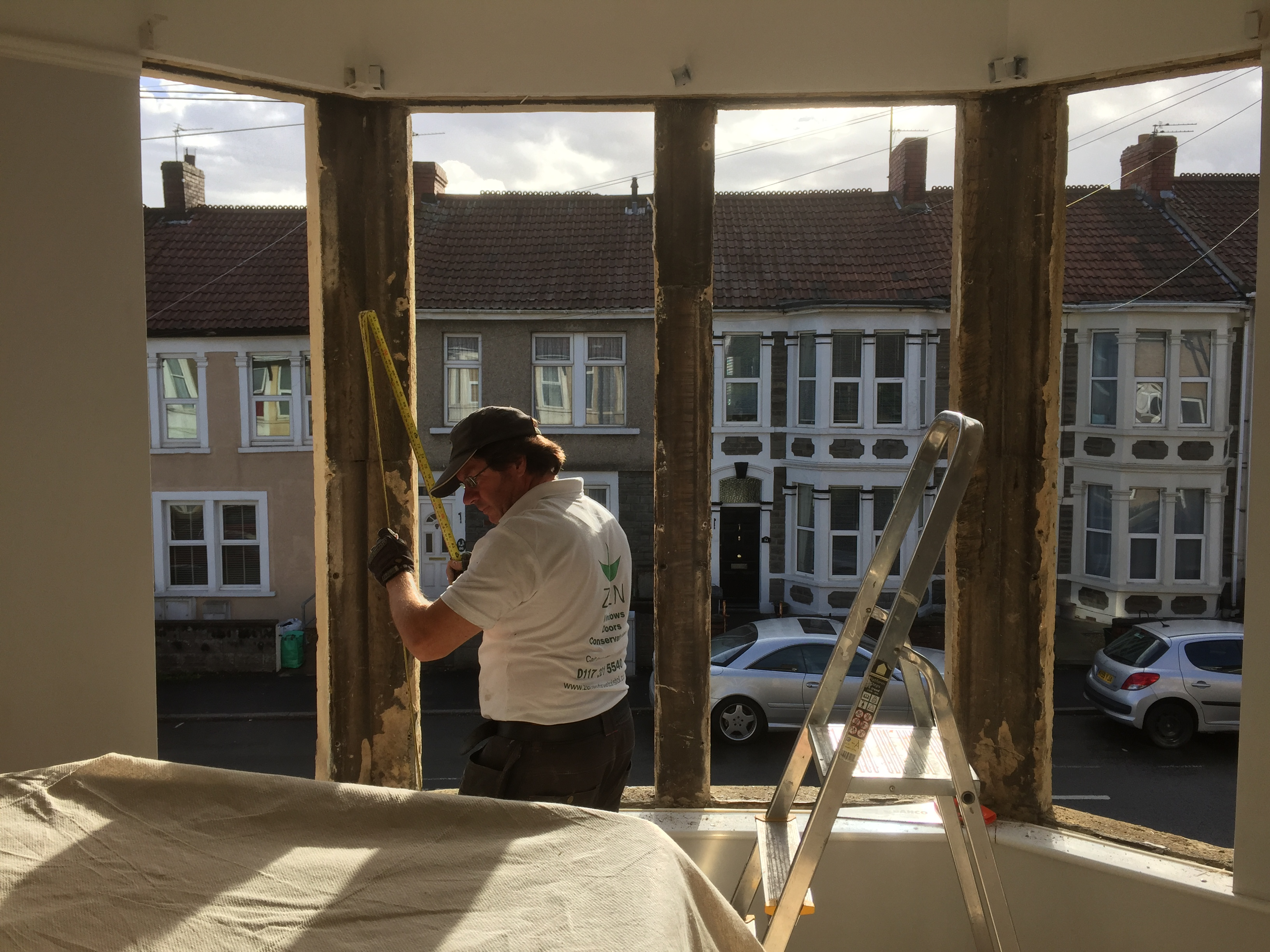 Mark fitting bay window in Bristol
