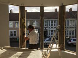 Mark fitting bay window in Bristol