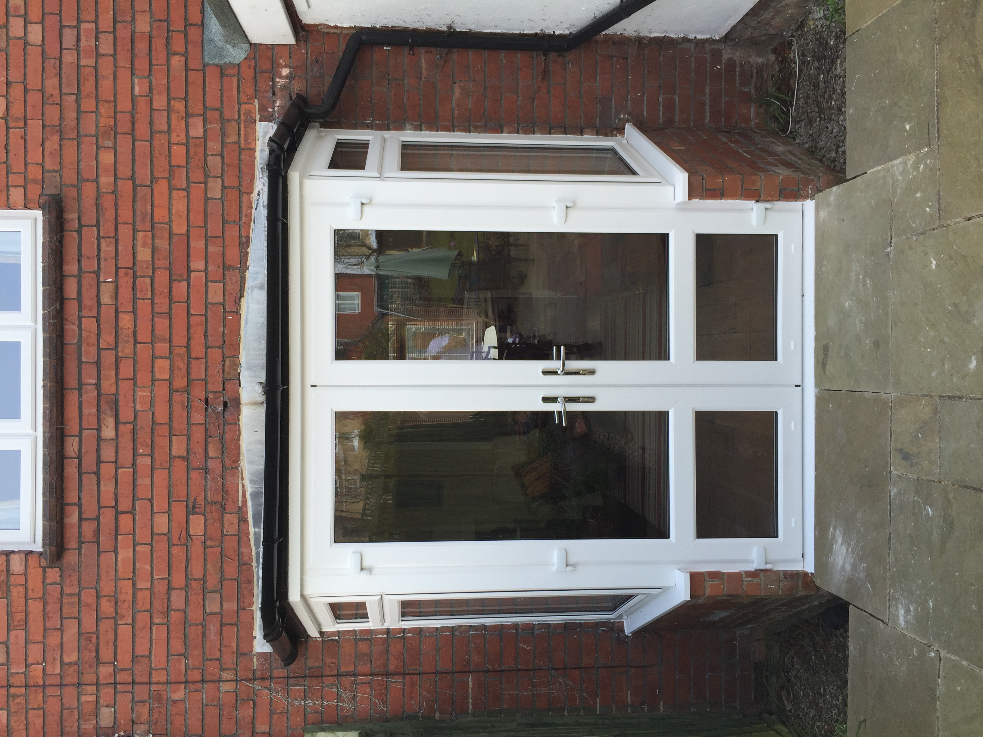 Stonehouse, new French doors and bay