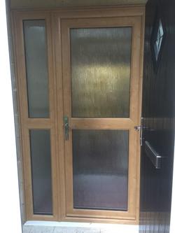 Irish oak porch inner front door