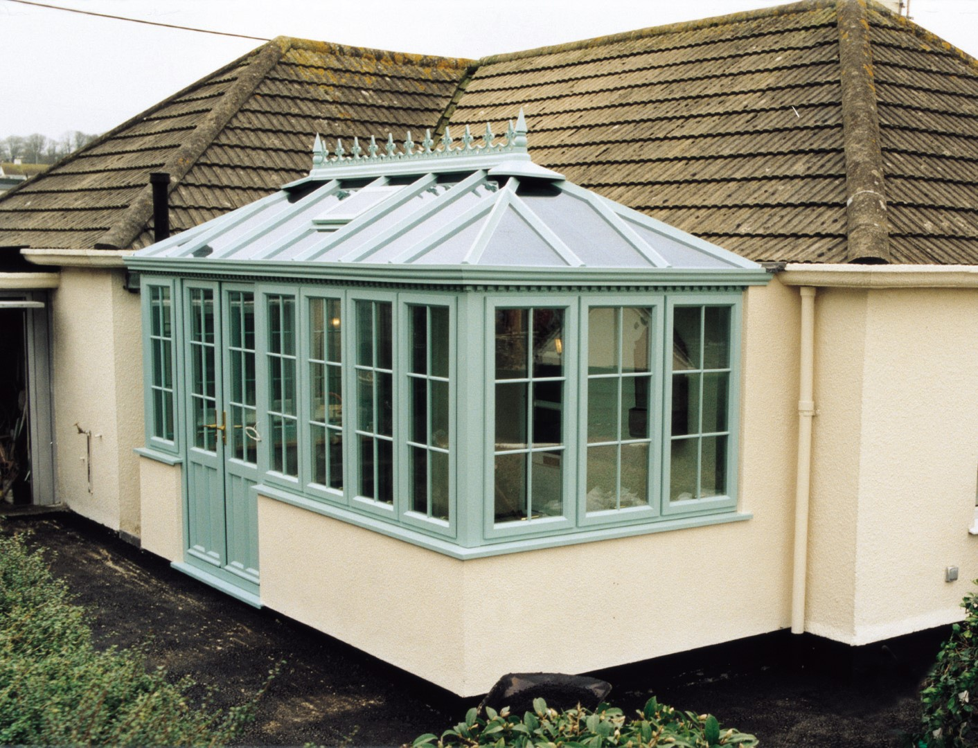 Georgian Box Gutter Conservatory green