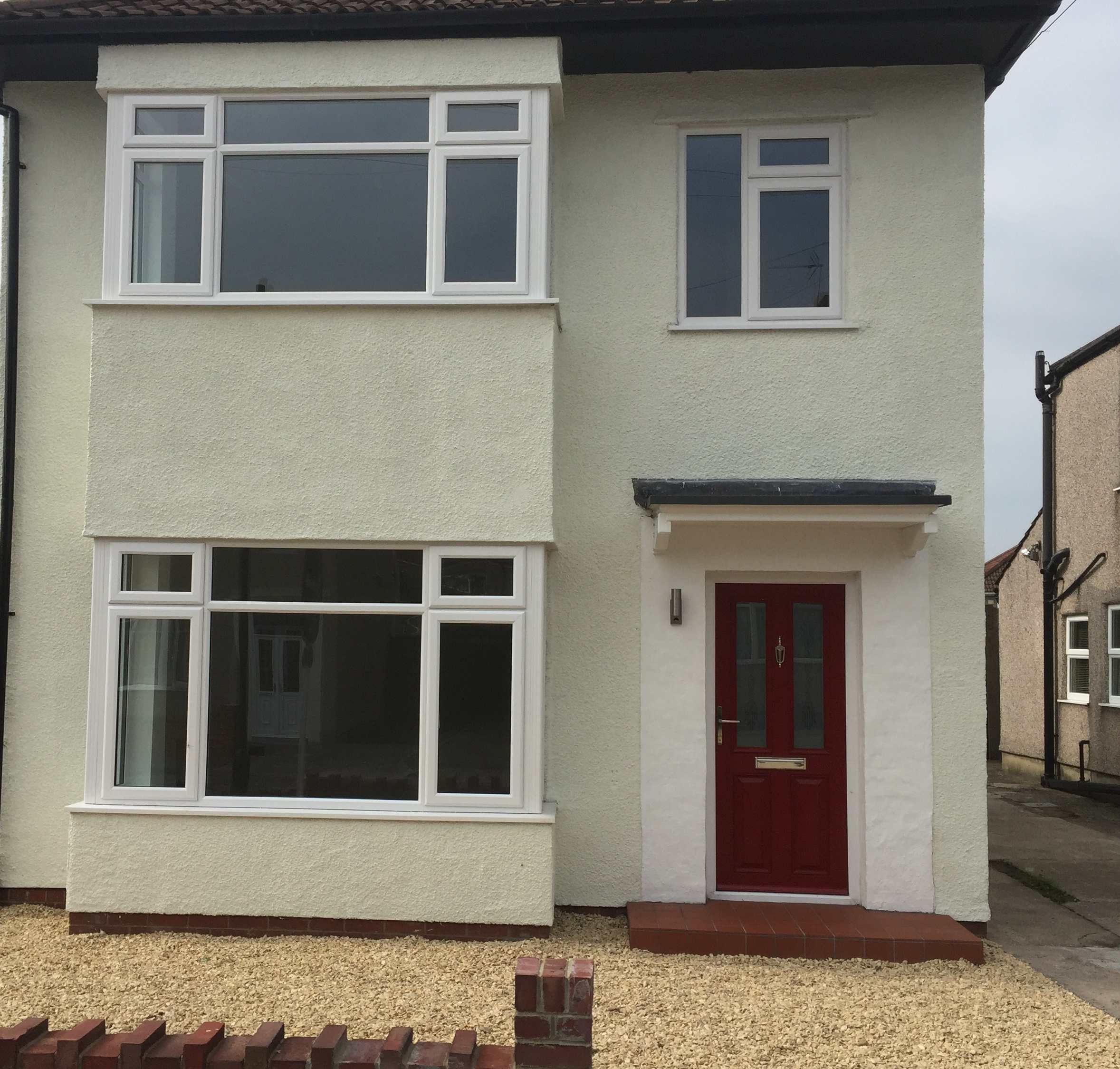 New windows and red composite door