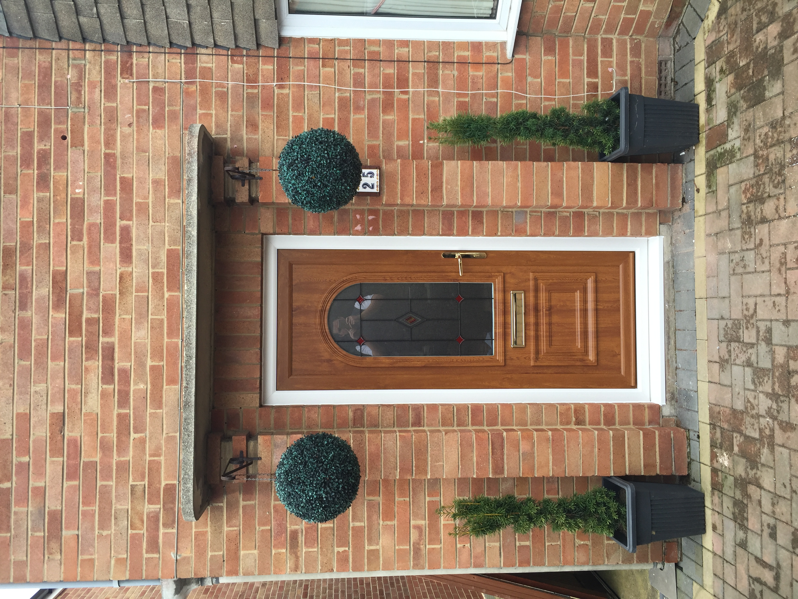 Golden oak front door, Churchdown