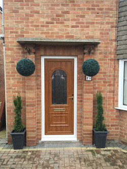 Golden oak front door, Churchdown