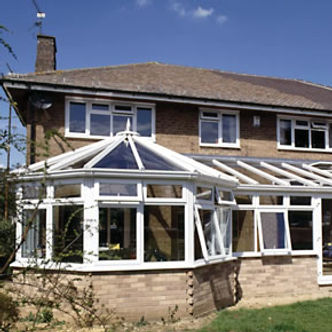White PVCU double glazed windows and roof