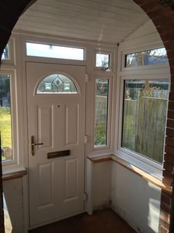New porch door and windows