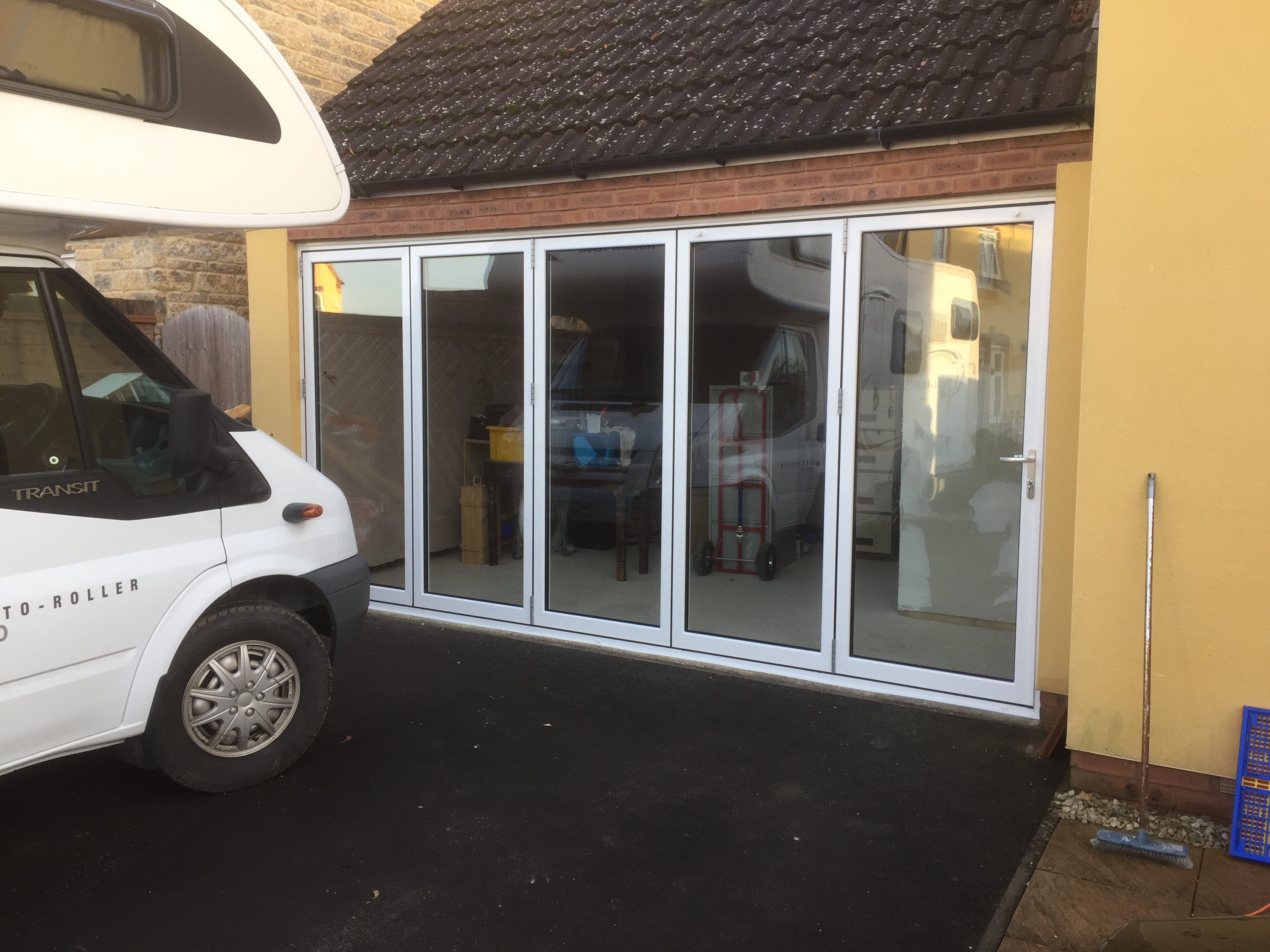 New aluminium bi-fold door, A-rated