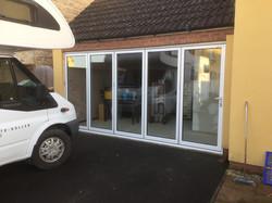 New aluminium bi-fold door, A-rated