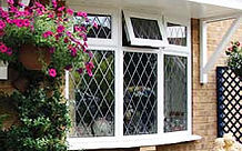 Double glazing bow window