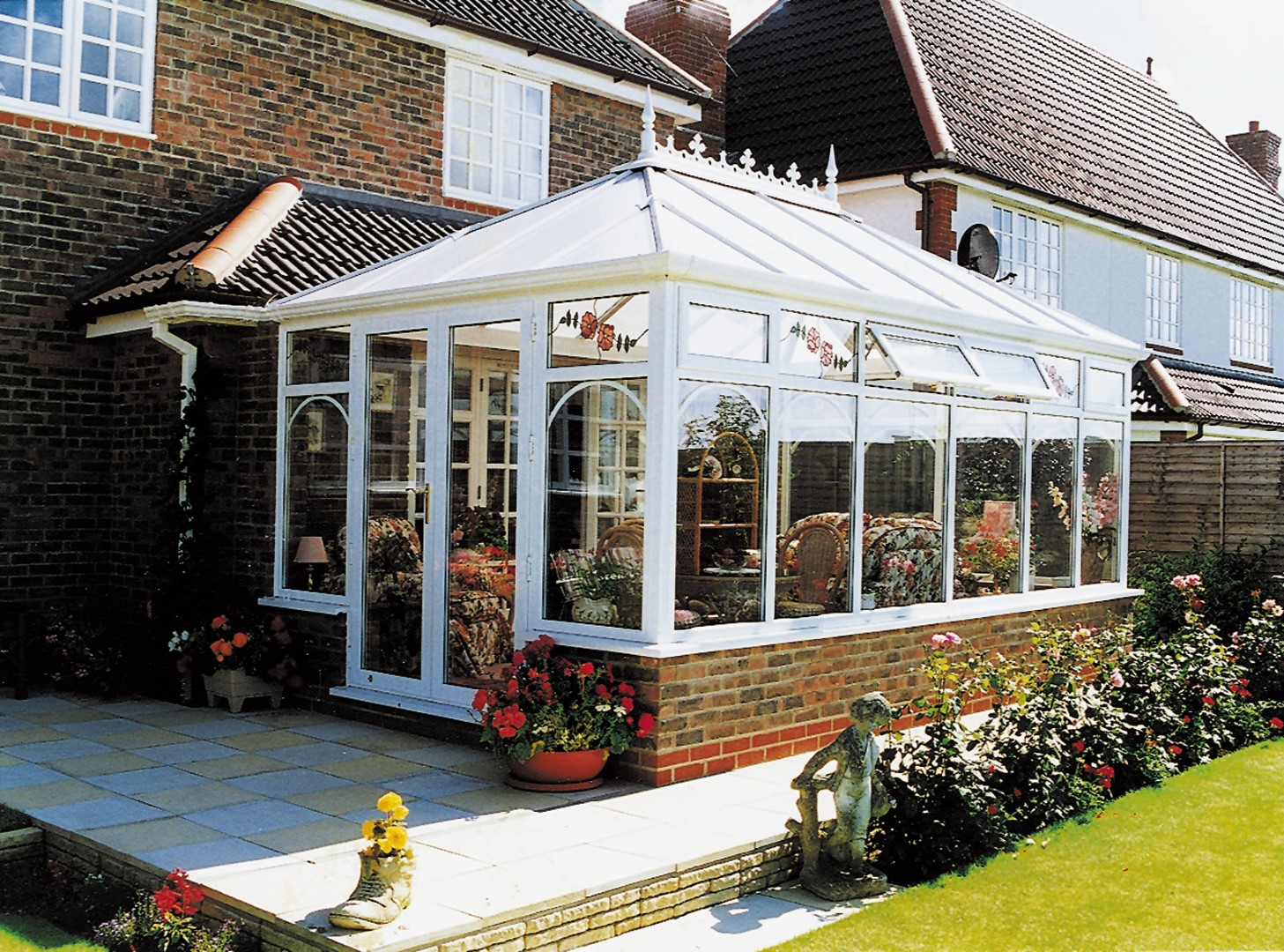 Georgian Box Gutter conservatory white