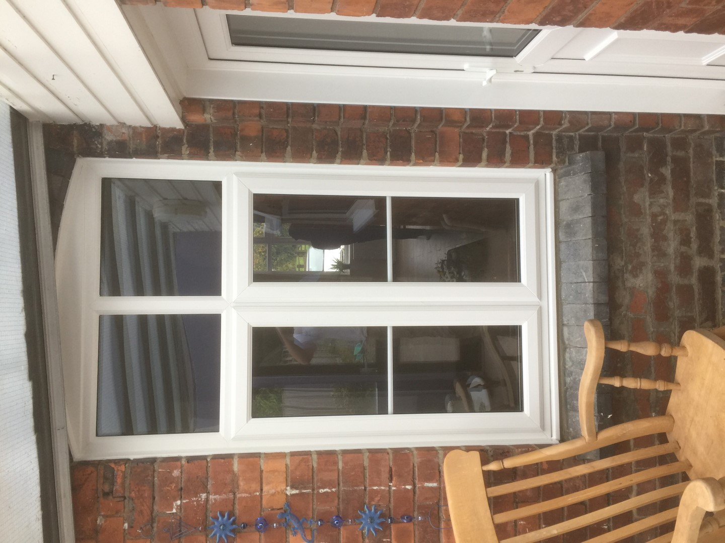 New window with georigan bars