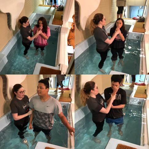 Baptisms! 3-25-18 -> Going in
