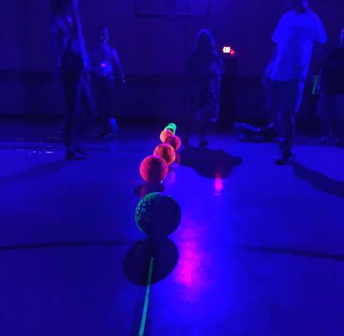 Glo-in-the-dark dodgeball