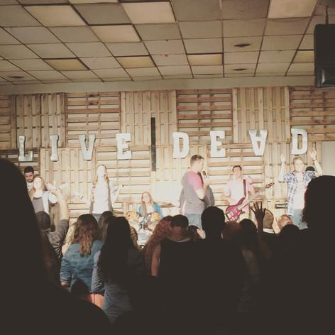 Camp worship time