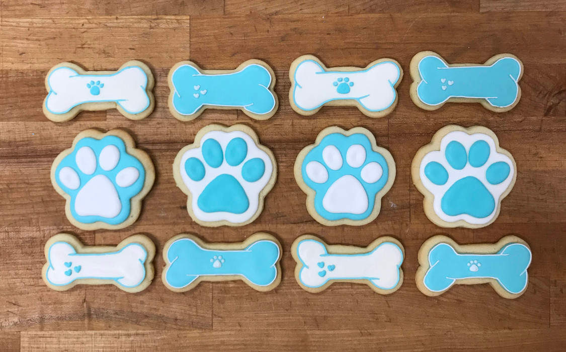 Puppy Royal Icing Cookies, 2019