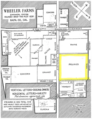 Wheeler Farms property drawing from 1926