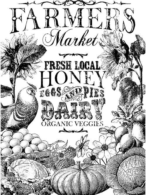 Farmer's Market Paintable Transfer