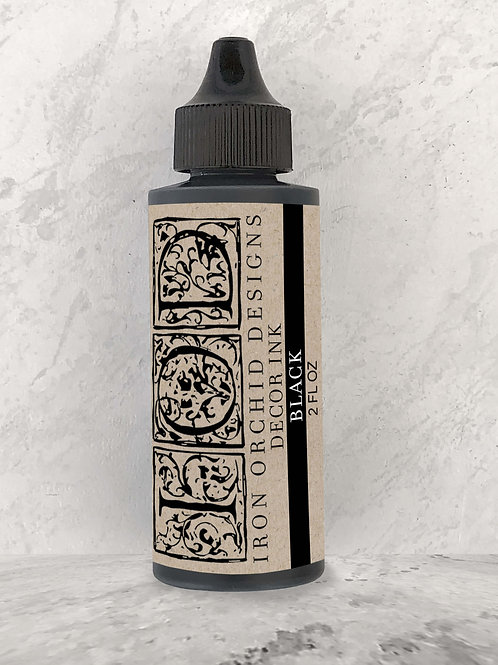 Black Decor Ink 2oz