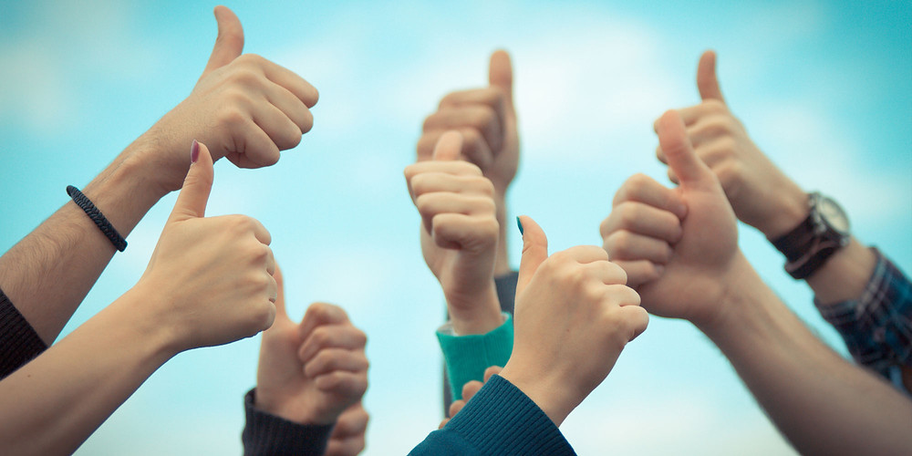 Plymouth Dentist success story, thumbs up