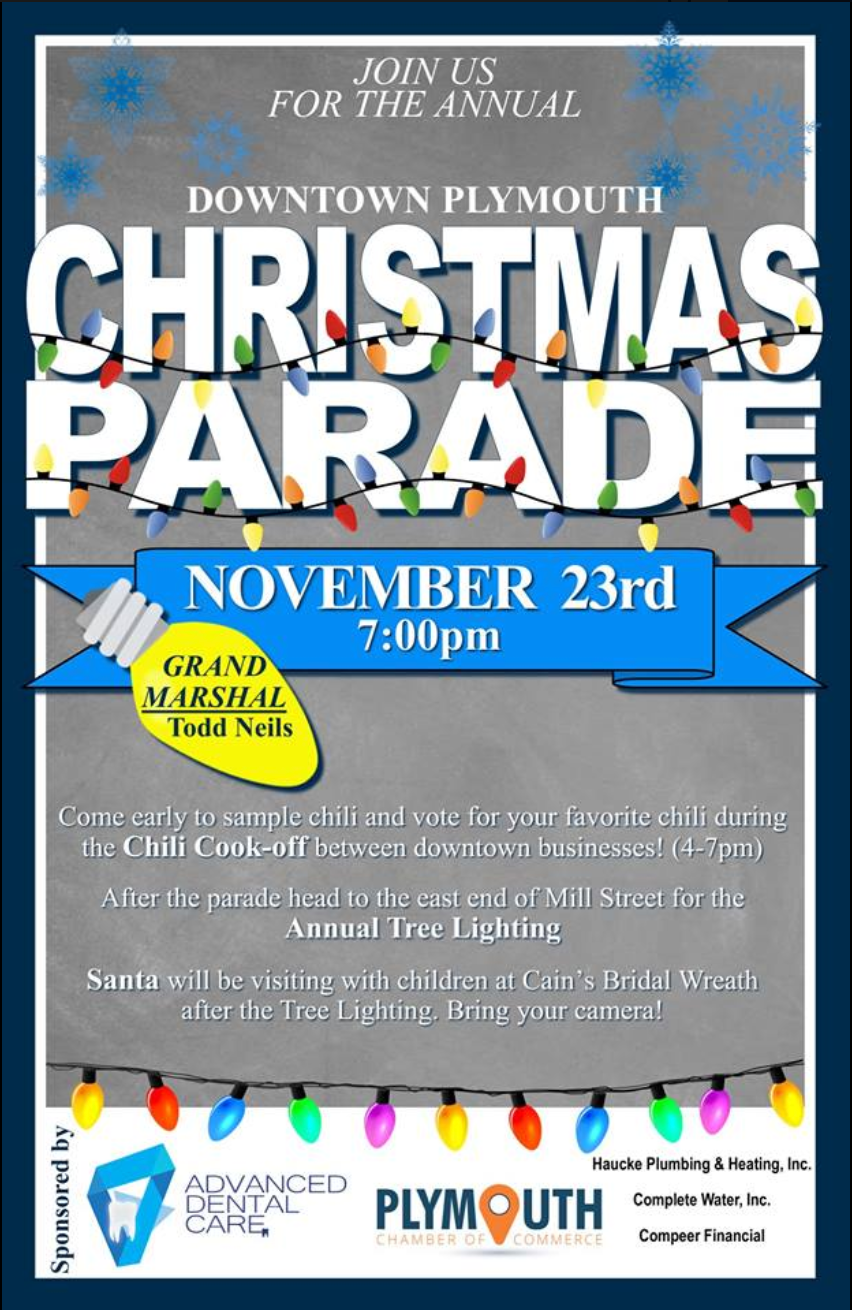 Christmas parade Plymouth Wisconsin poster