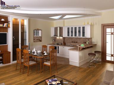 مطبخ وصالة طعام