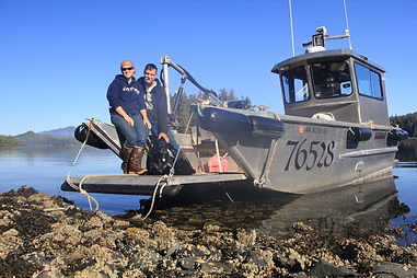 Captain Stephanie, husband Brad, Luna, and the Luna Sea-Prince of Wales Island Alaska