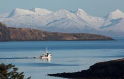 Boat in Aleutian Islands