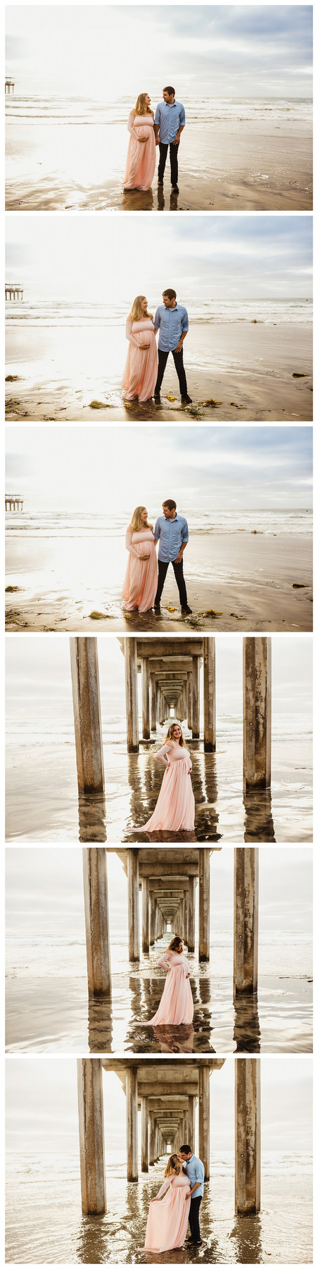 San Diego Beach Maternity Session / Olga Kubrak Photography