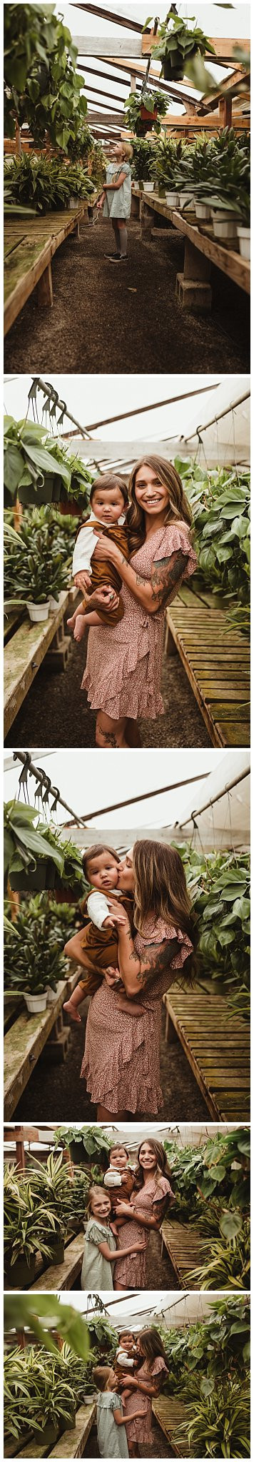 Mommy and Me Greenhouse Portraits/ San Diego Family Photographer