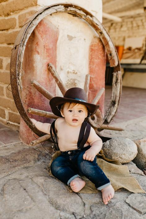 Cowboy Themed Cake Smash