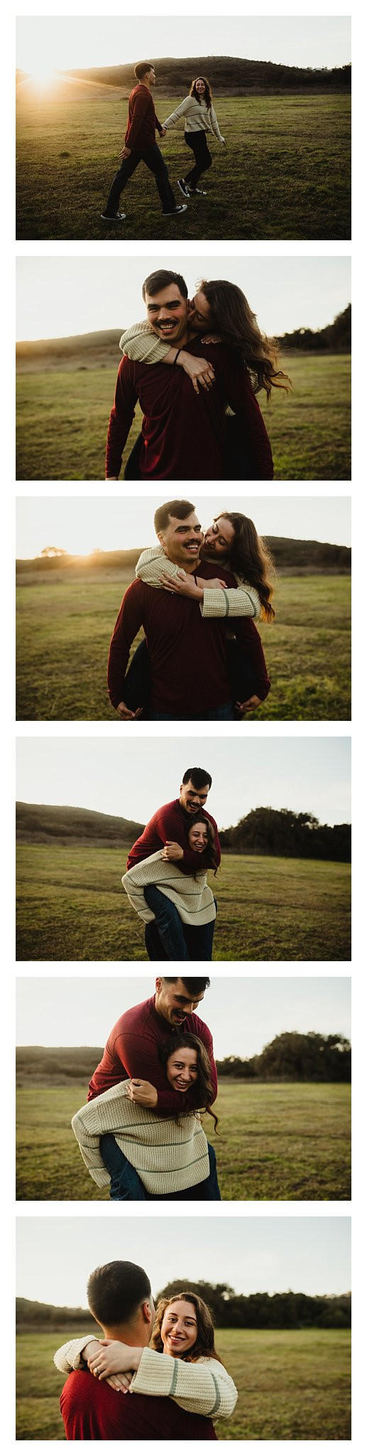 woodsy engagement session san diego