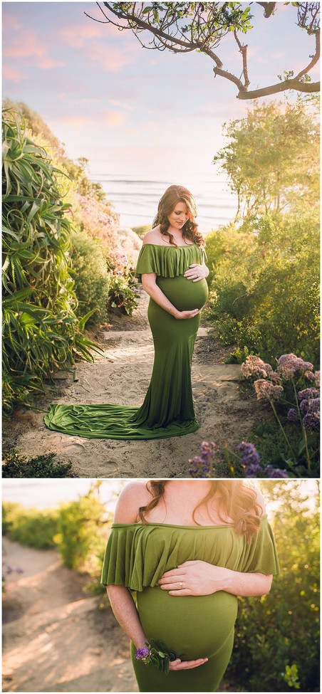 Golden Shore Maternity Session