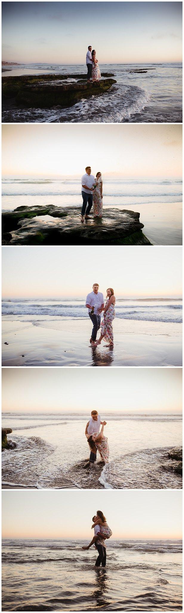 Romantic Beach Engagement Session San Diego