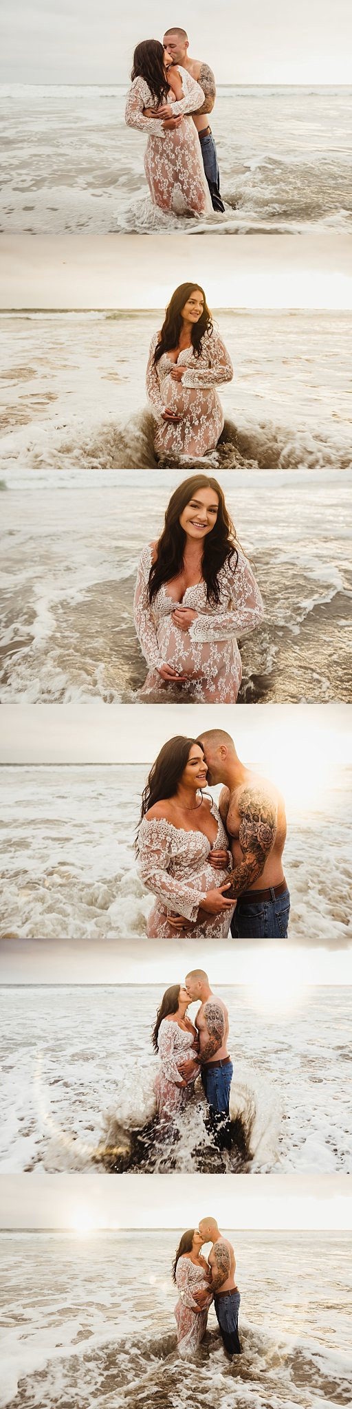 Beach Maternity Portraits Couples